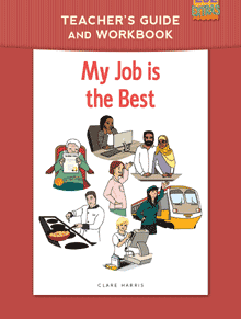 cover of My Job is the Best, a free easy ESL book by Clare Harris