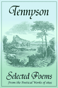 the cover of the free ebook of Tennyson's Selected Poems