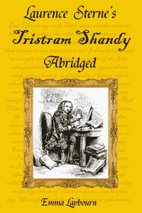 the cover of Laurence Sterne's Tristram Shandy abridged, a free ebook 